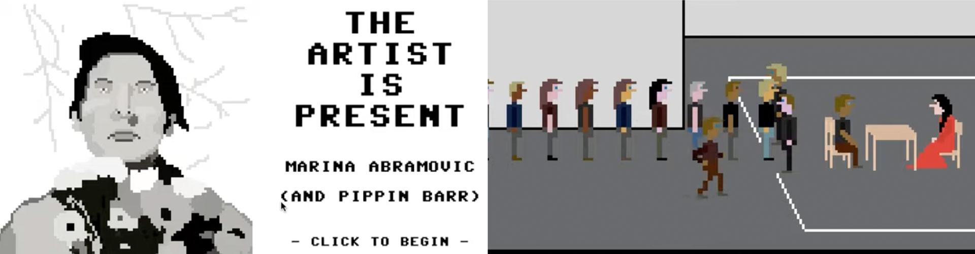 Pippin Barr, The Artist is Present, 2012, Video game (stills)