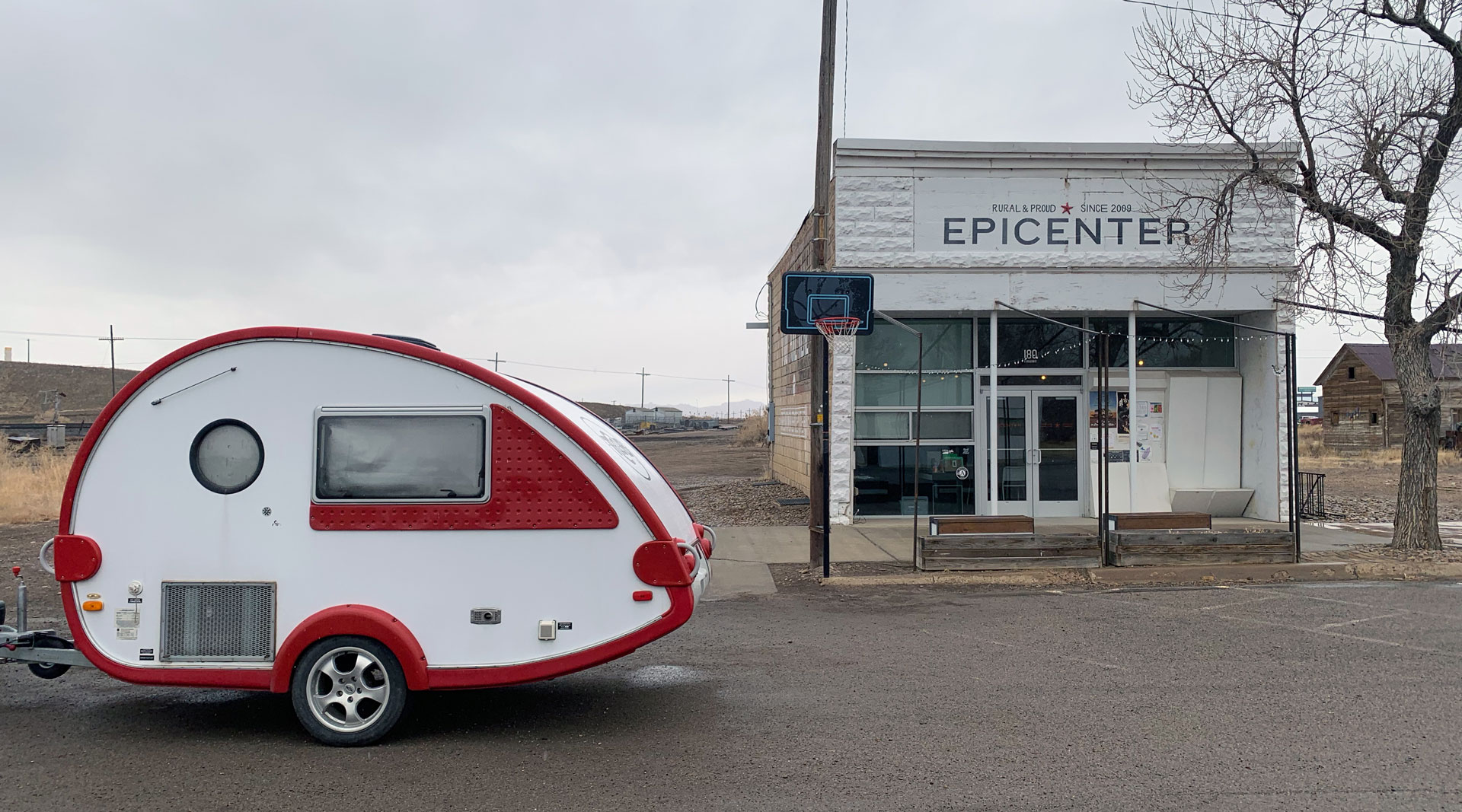 Katie Hargrave and Meredith Lynn Starting their trip outside of Epicenter in Green River, UT