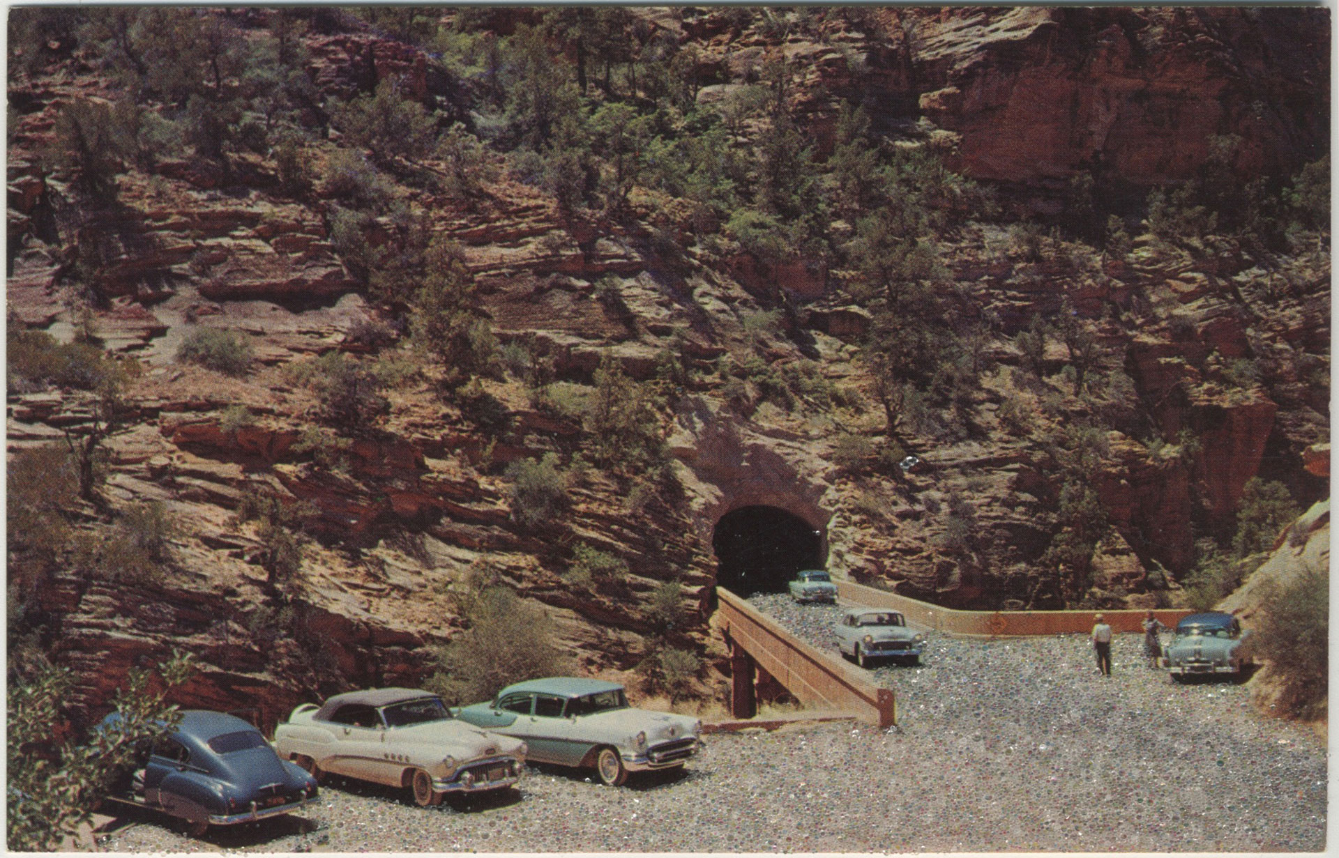 Katie Hargrave and Meredith Lynn Altered vintage postcard of Zion National Park