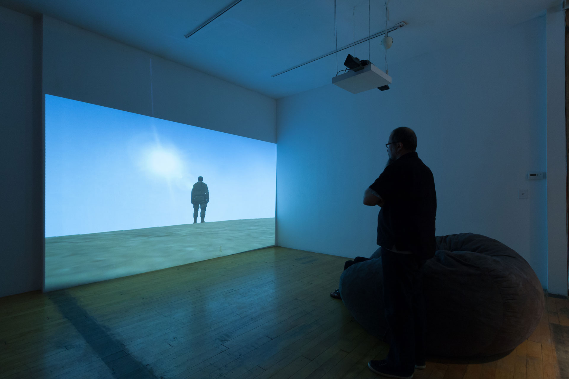 Paolo Pedercini, Welcome to the Desert of the Real, 2011, Machinima (still), installation view
