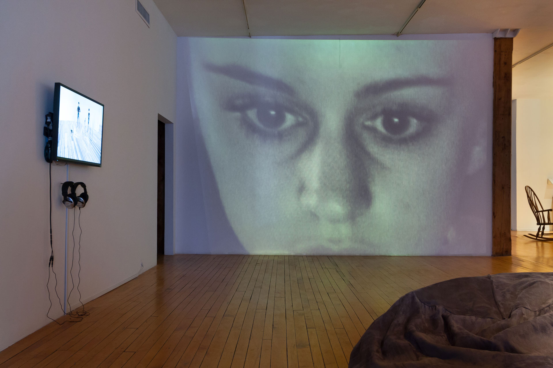 Dana Sperry, First Person Shooter or New Rider of the Apocalypse, 2006, video, installation view