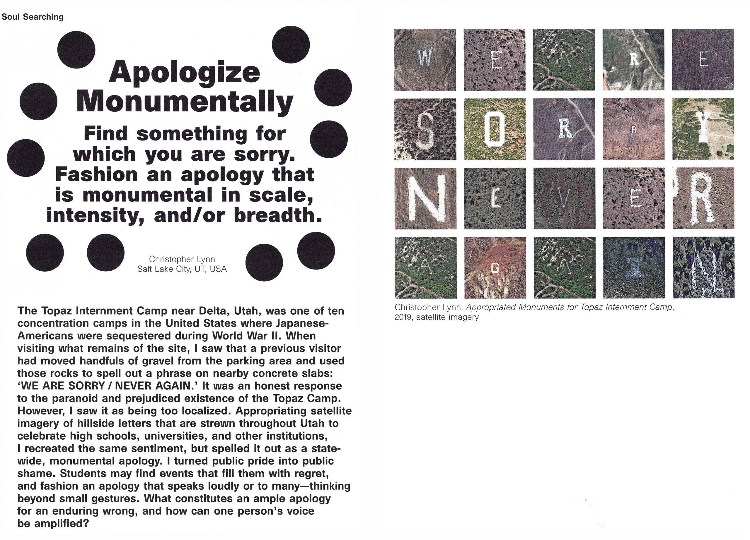 Apologize Monumentally