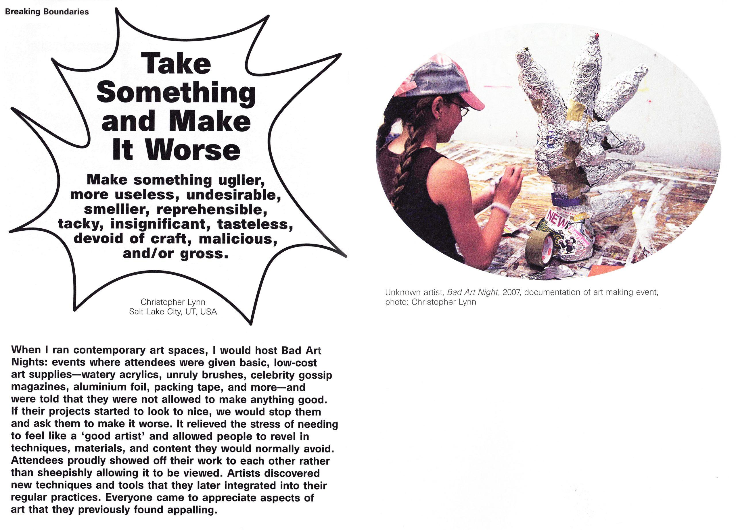 Take Something and Make It Worse